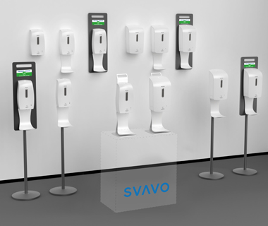 Product Info | SVAVO Mobile Sterilization Stand with Dispensers for Personal Hygiene