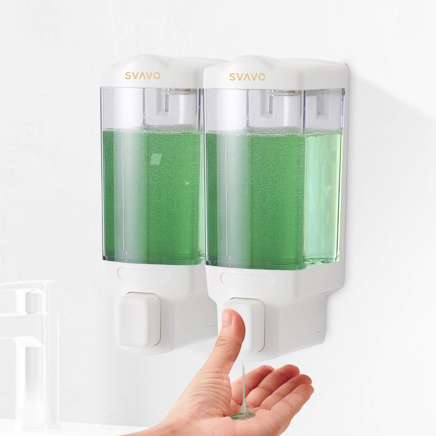 Double Shampoo and Soap Dispensers for Showers V-8122