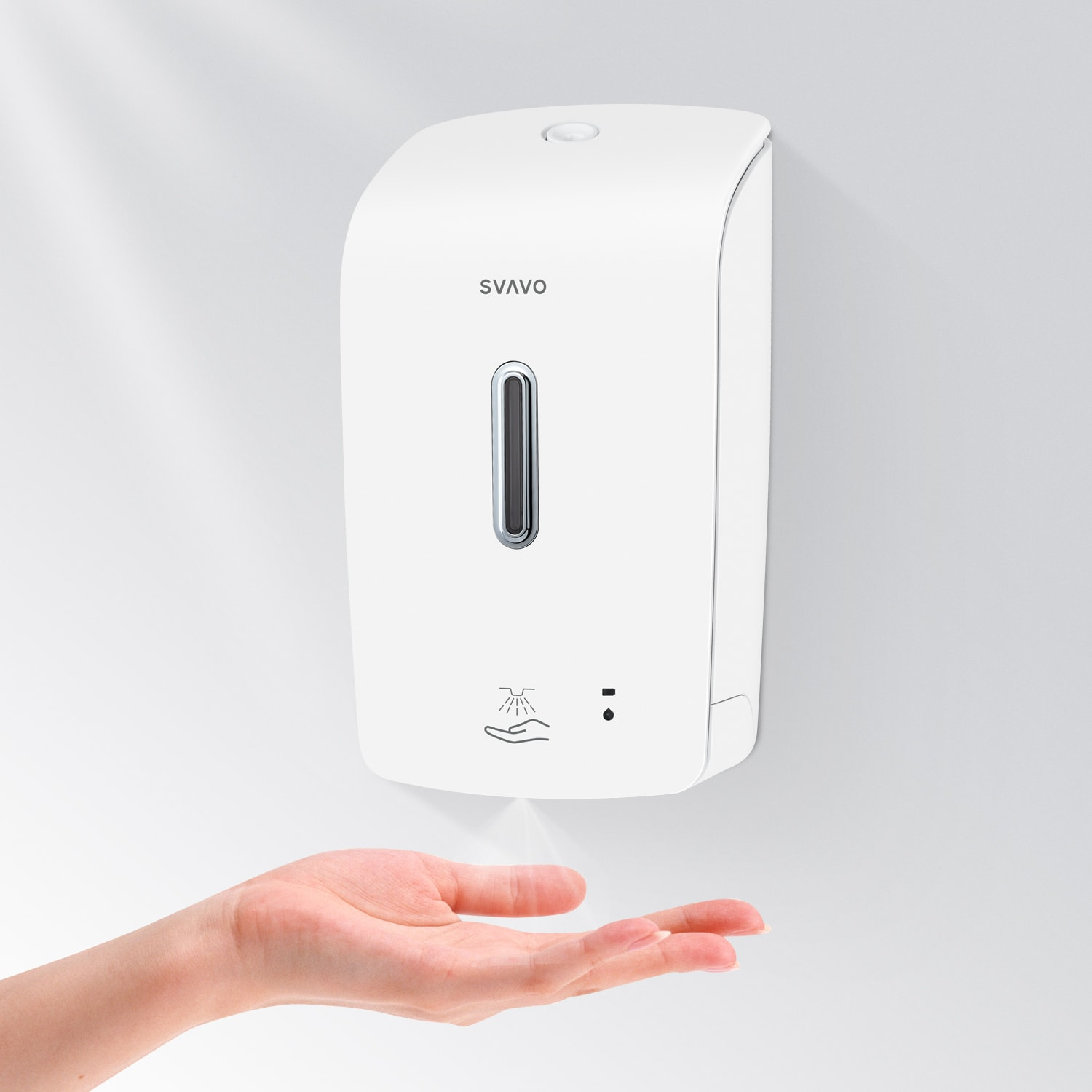Plaza series Big Volume Sensor Infrared Alcohol Spray Hand Sanitizer Dispenser PL-151057