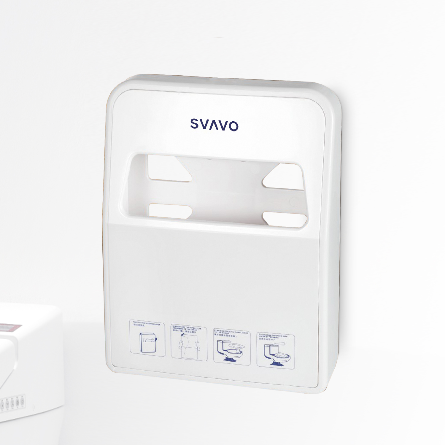 Plastic Toilet Paper Seat Cover Dispenser VX780