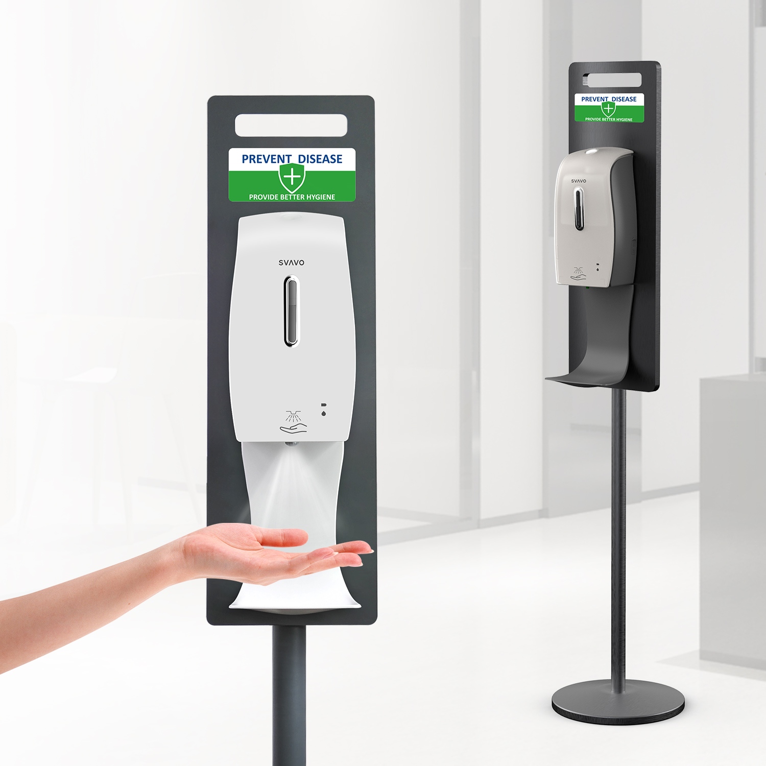 Handy-easy Installation Auto Hand Sanitizer Station PL-151049SF-B
